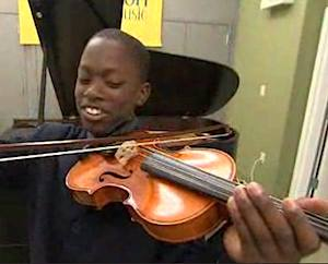 violin lessons for black boy in fostercare-NBCvid