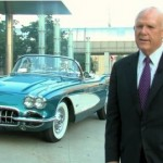 CEO of GM with his Corvette