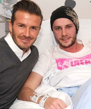 David Beckham visits patients-Queen Elizabeth Hospital photo
