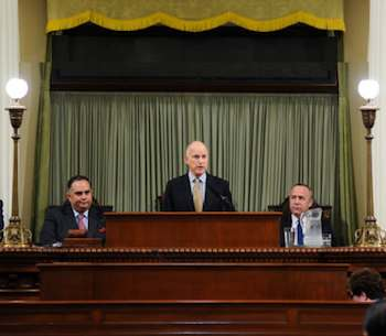 Gov. Jerry Brown addresses legislature - CA gov photo