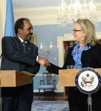 Hillary Clinton with Somali president