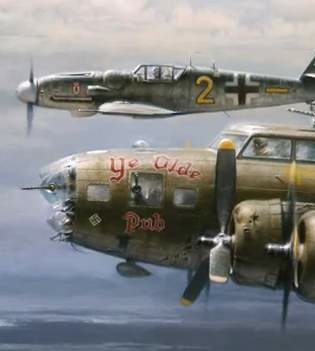 WWII bomber German plane side-by-side
