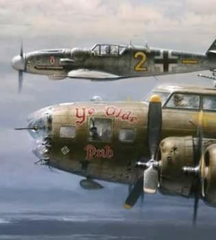WWII bomber German plane side-by-side
