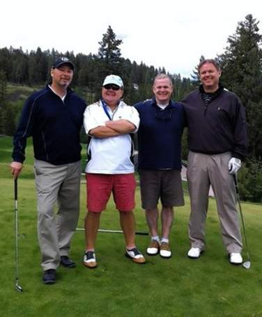 golfing friends play tag for 23 yrs