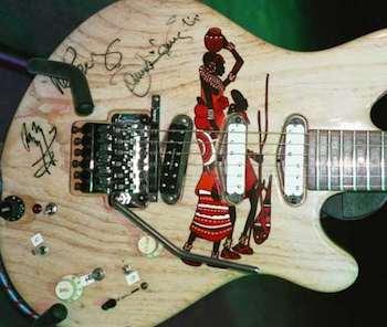 guitar w/ Massai design  was returned to Jennifer Batten