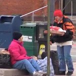 homeless receive pizza delivery-YouTube