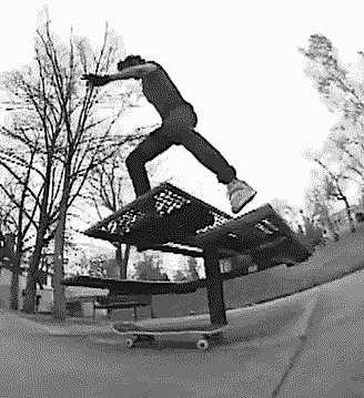 skateboard trickery videoclip