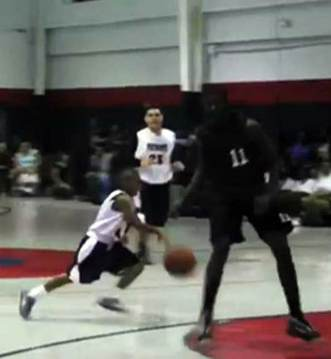 Julian Newman plays basketball