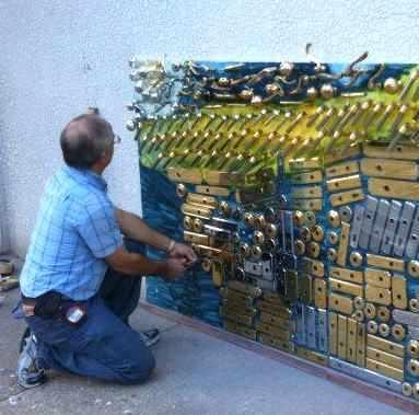 installing hardware makes art -Unioin Hardware photo