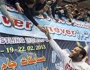 fans in Iran love athlete Jordan Burroughs