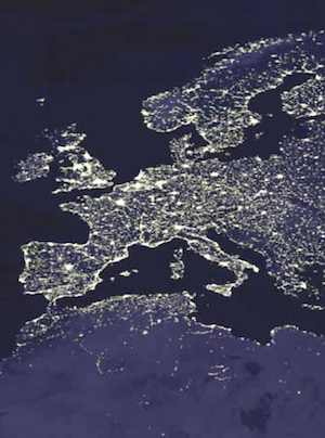 night Europe satellite-NASA