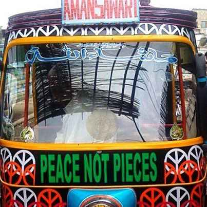 peace rickshaw by Unique Pakistan Facebook Page