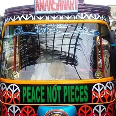 peace rickshaw by Unique Pakistan Facebook Page