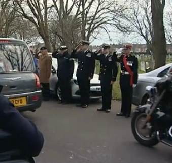 servicemen funeral honor guard UK-ITVvid