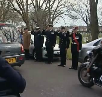 servicemen funeral honor guard UK-ITVvid
