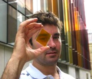 solar glass in rainbow colors