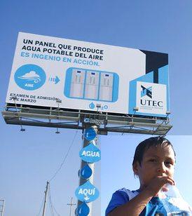 water creating billboard-Lima Peru