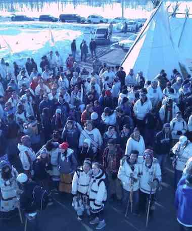 Cree youth trek Canada - CBC Twitter
