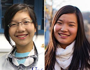 Miranda Wang and Jenny Yao - young scientists
