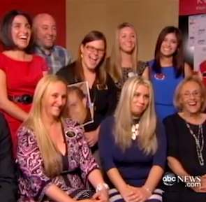Office lottery winners share with new girl