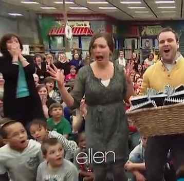 Surprised teachers get 50K from Ellen Show