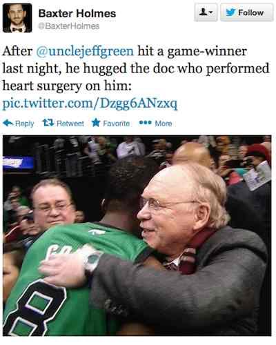 basketball player hugs surgeon - Twitter