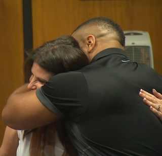 black man hugs white foster mom-CNNvid