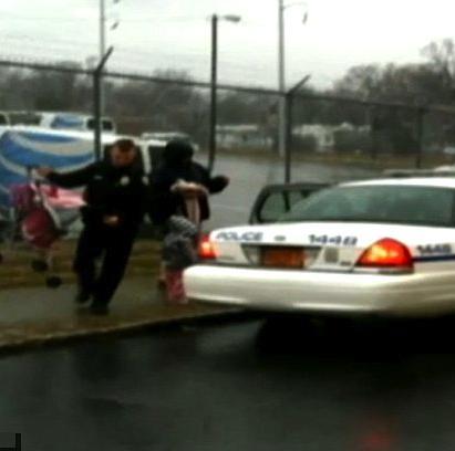 cop good deed FB photo blurry