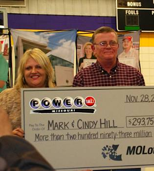 lottery winners Mark and Cindy Hill