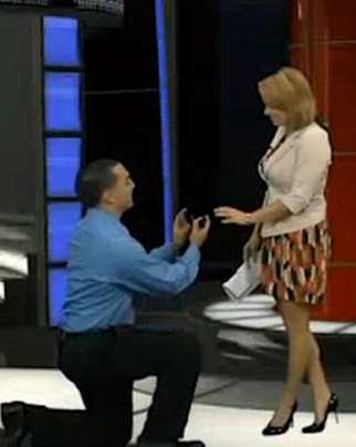 Marriage proposal on air on Fox54