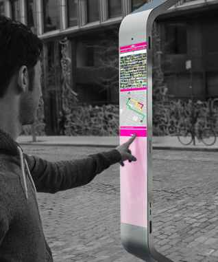 technology payphone redesign sidewalk-designillus