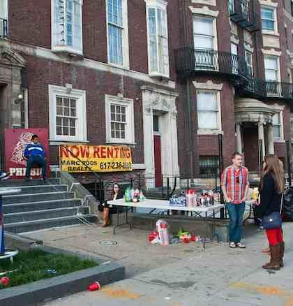 Fraternity house offers drinks Boston bombings-MarkZastrow-CC