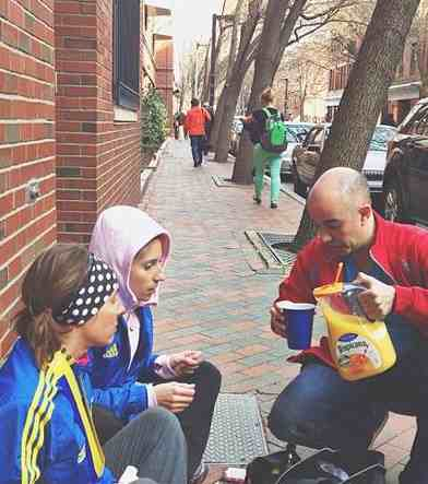 Helping others serves juice-Boston bombings