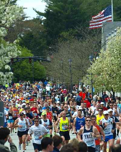 Marathon Boston, photo by Peter Farlow via Flickr-CC