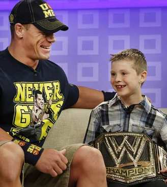 WWE wrestler answers wish for a boy - TODAY show