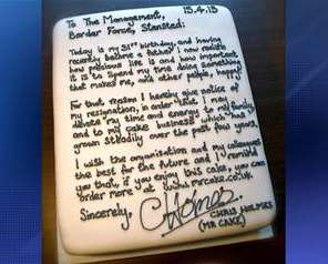 cake resignation-message