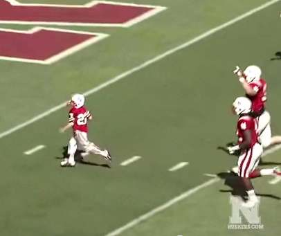 football score for boy with cancer at Nebraska U.