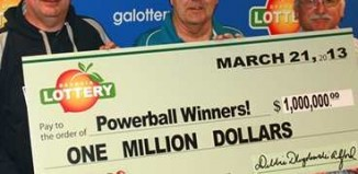 lottery shared by 3 friends with pact