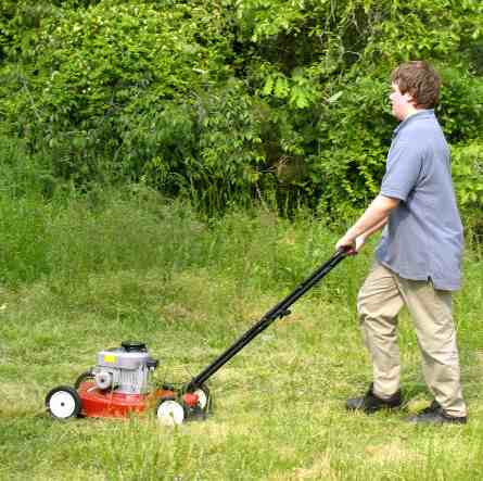 boy mowing - Photo by Anitapeppers, via Morguefile - CC