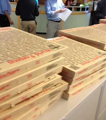 pizzas in office-Mark Potheir