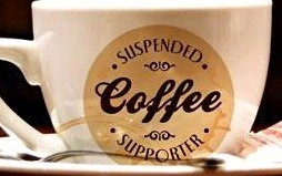 suspended coffee cup