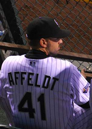 Giants pitcher Affeldt - by Eric Kilby, 2007