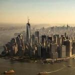 Manhatten Trade Center spire erected-NBC