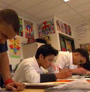 art classroom NBC video