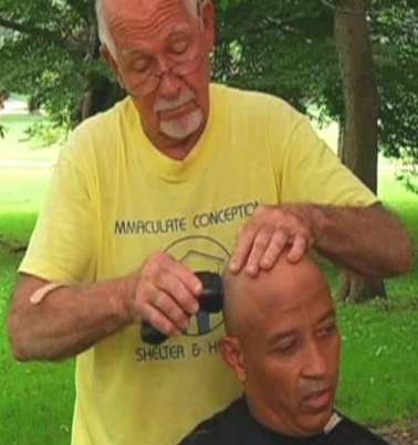 barber for homeless