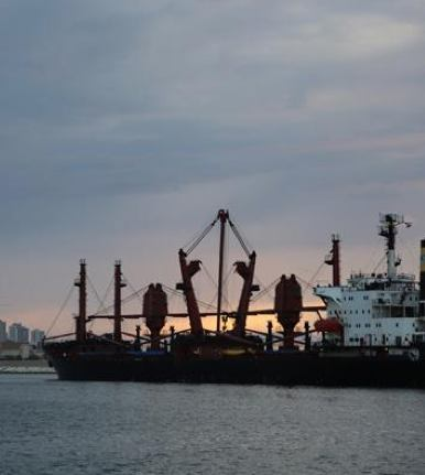 ship delivers US grain to WFP