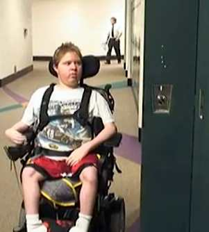 wheelchair bound student at locker-Livingston Dailyvideo