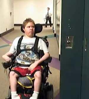 wheelchair bound student at locker-Livingston Dailyvideo