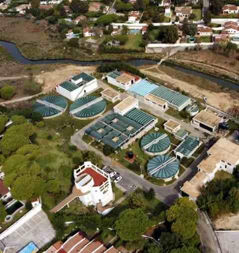 Algae plant Chiclana de la Frontera-Spain aerial