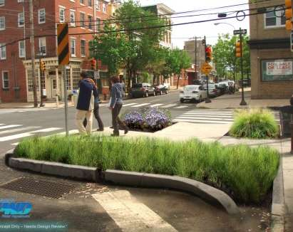 Philadelphia sidewalk greening-plants
